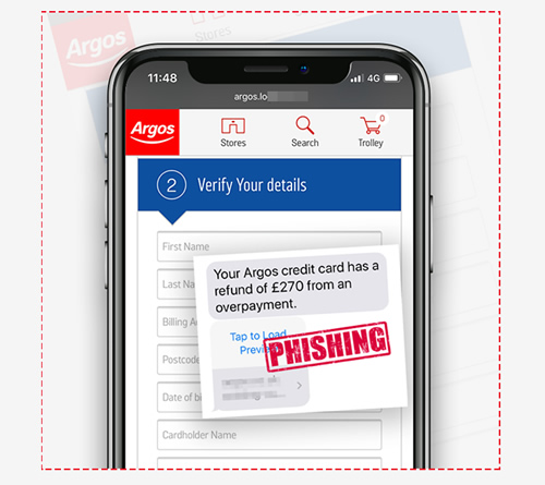 Argos Text Scam